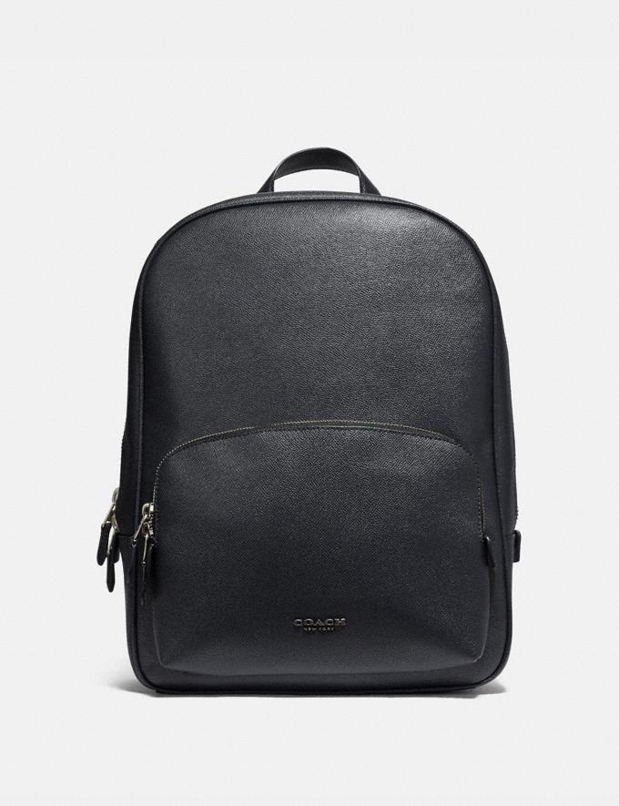 Coach Kennedy Backpack Midnight Navy/Silver Men Bags Backpacks