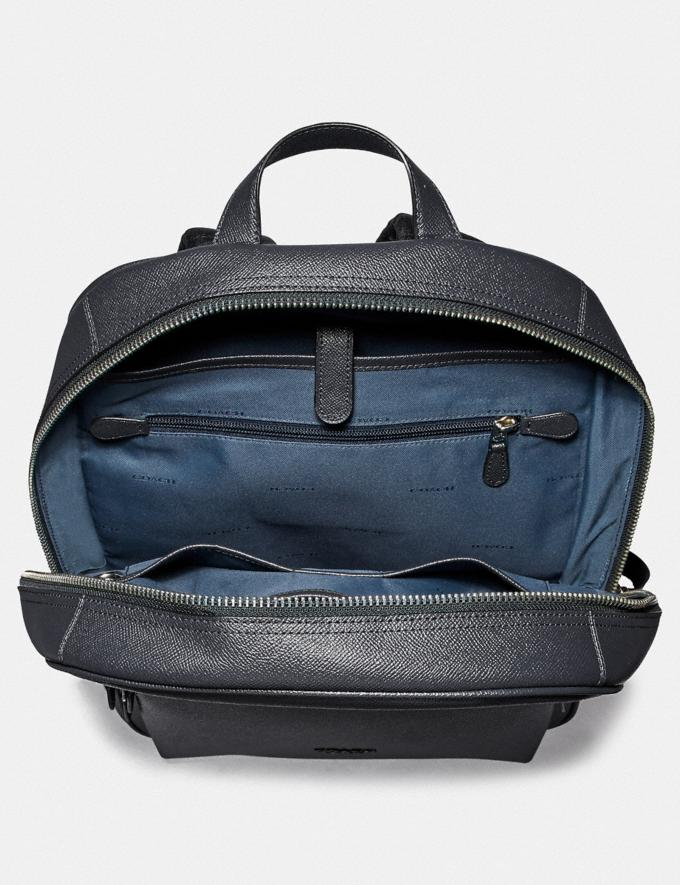 Coach Kennedy Backpack Midnight Navy/Silver Men Edits Travel Alternate View 2