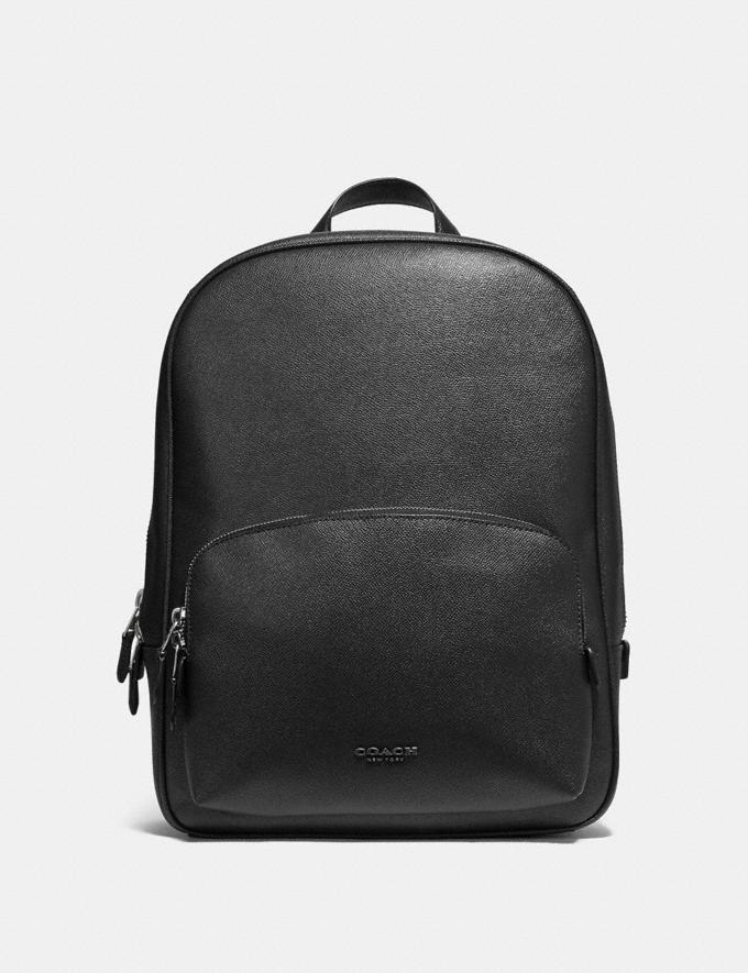 Coach Kennedy Backpack Black/Silver Gift For Him Bestsellers
