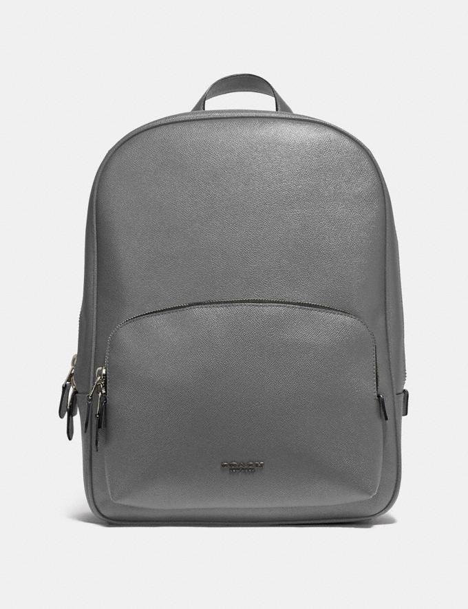 Coach Kennedy Backpack Heather Grey/Silver Men Edits Travel