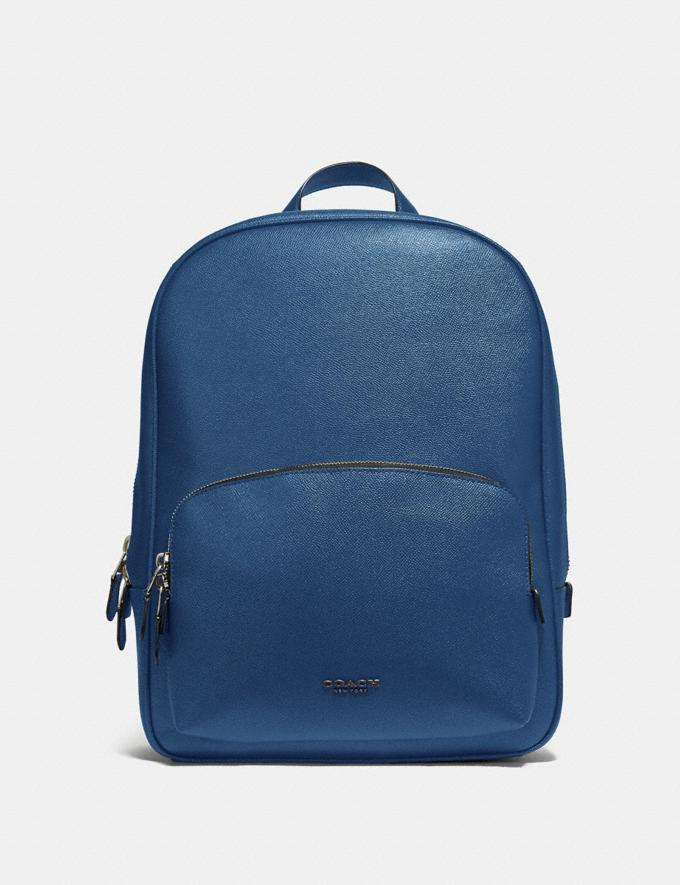 Coach Kennedy Backpack True Blue/Silver New Men's New Arrivals View All