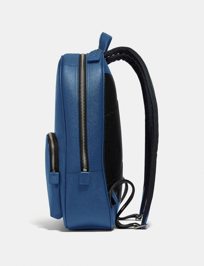 Coach Kennedy Backpack True Blue/Silver New Men's New Arrivals View All Alternate View 1