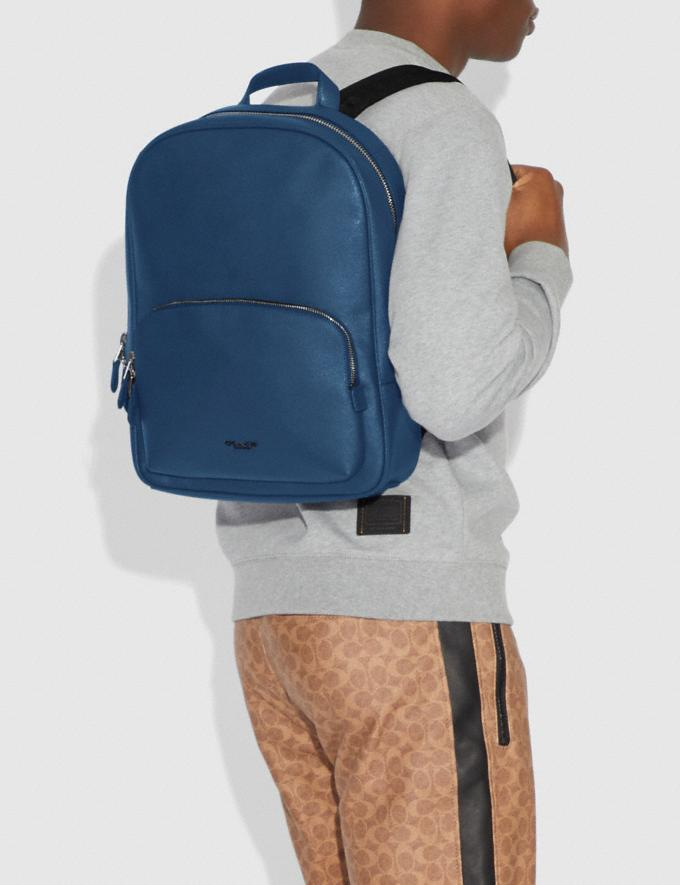 Coach Kennedy Backpack True Blue/Silver New Men's New Arrivals View All Alternate View 3