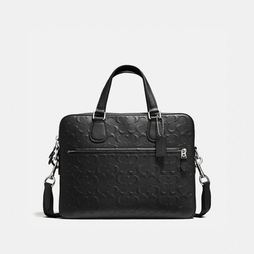 HUDSON BAG 5 IN SIGNATURE CROSSGRAIN LEATHER