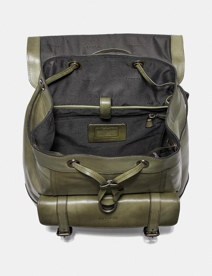 Coach Bleecker Backpack Olive/Black Antique Nickel Men Bags Backpacks Alternate View 2