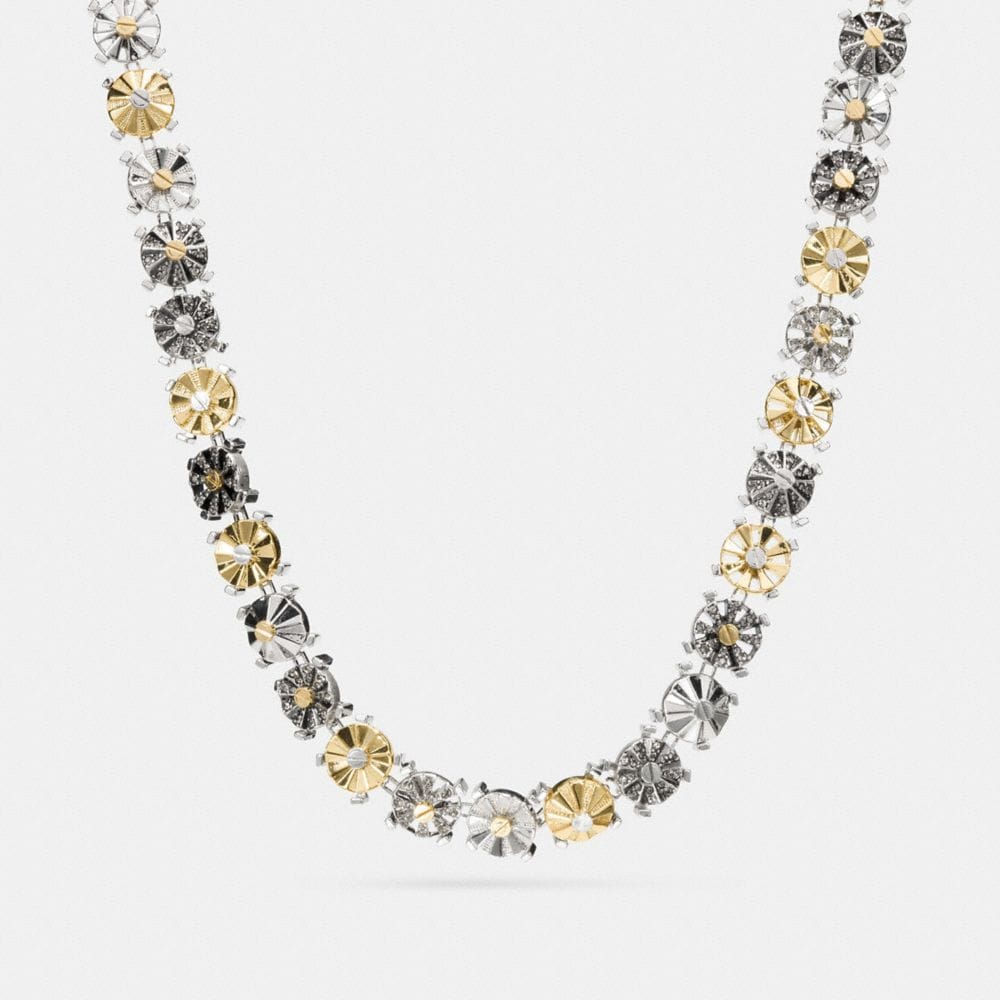 Coach Mixed Daisy Rivet Choker Necklace