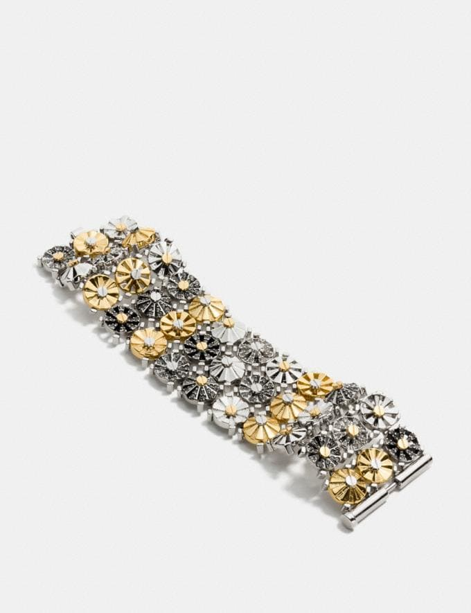 Coach Wide Daisy Rivet Bracelet Silver/Gold