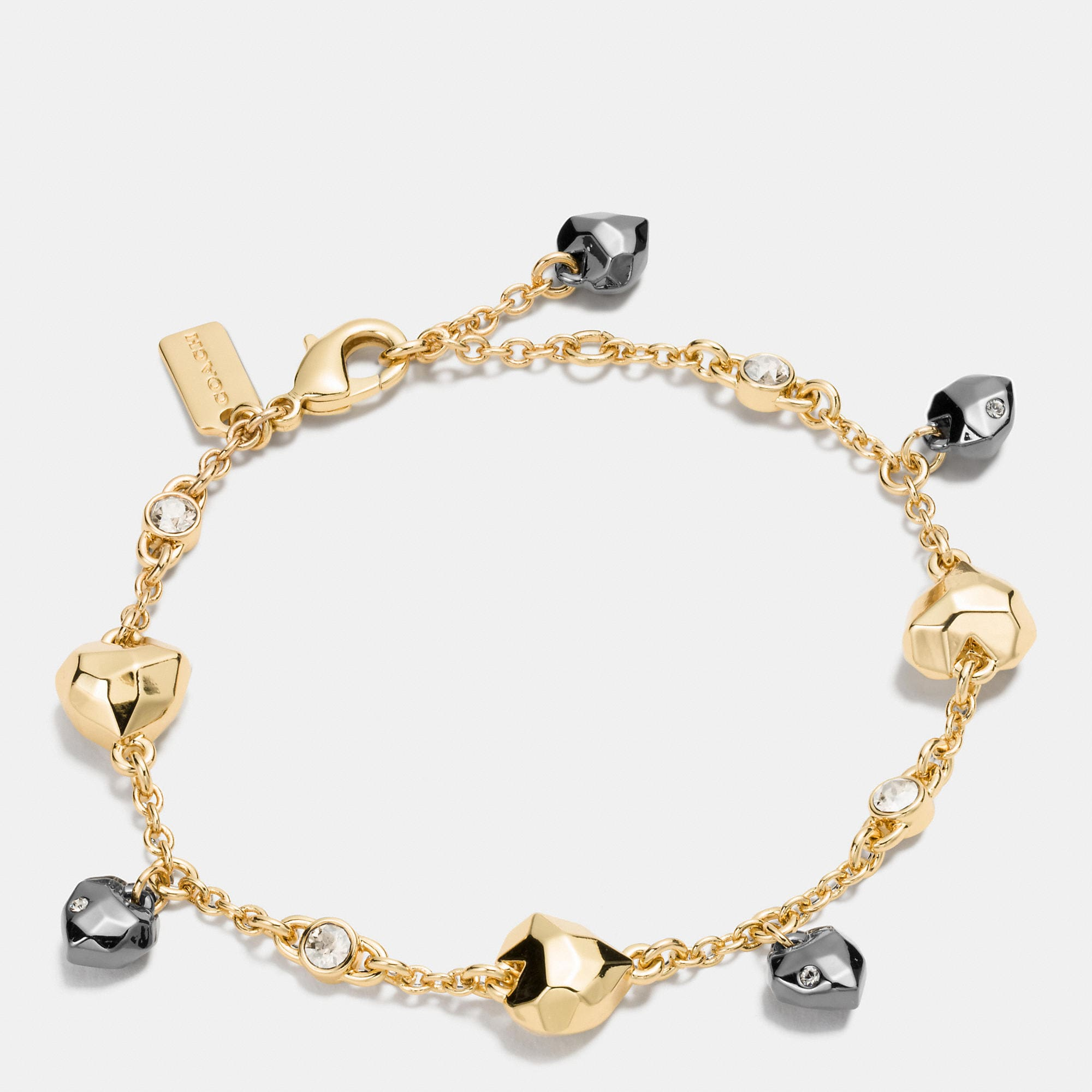 Coach Faceted Heart Bracelet