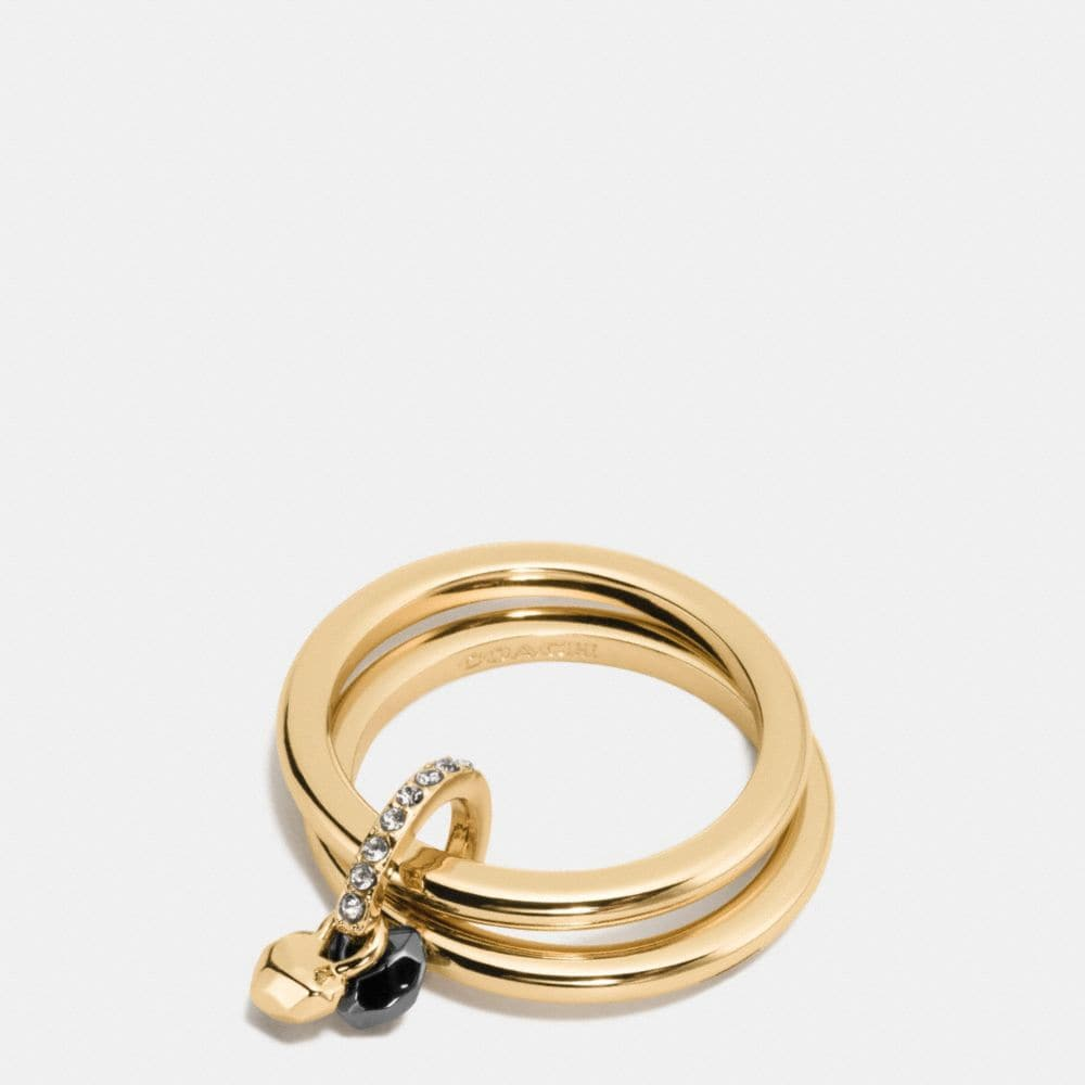 Coach Faceted Heart Ring Set