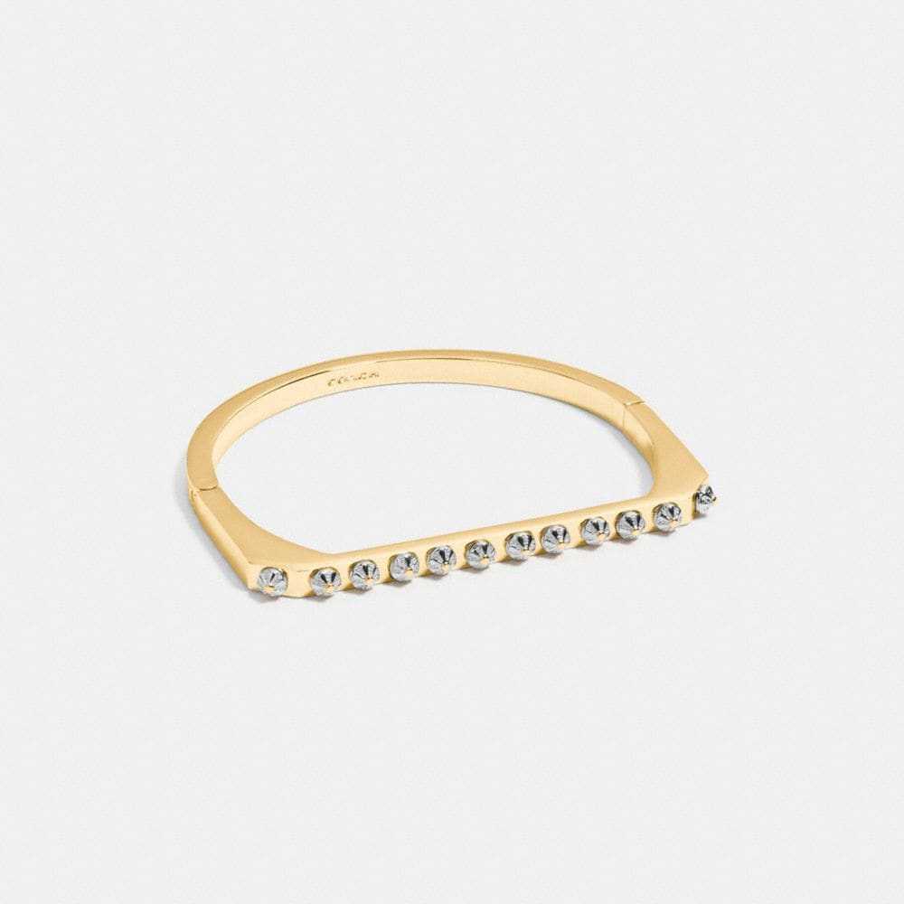 Daisy Rivet Side Hinged Bangle