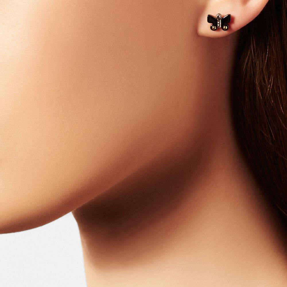Butterfly Stud Earring Set - Alternate View A1