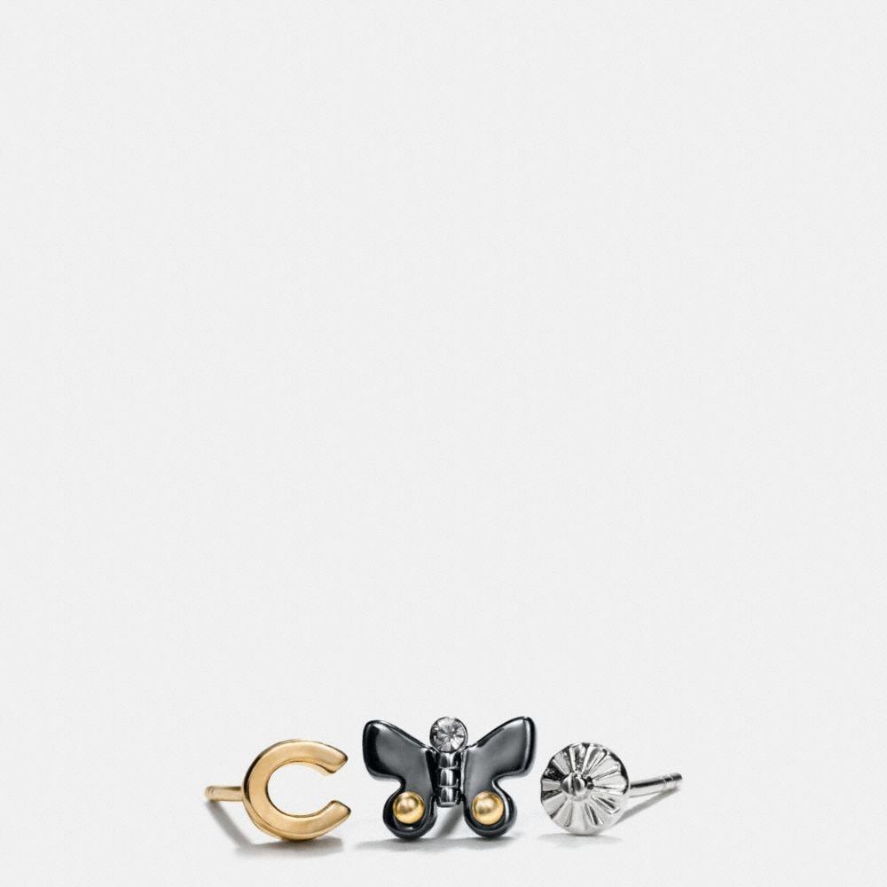 Butterfly Stud Earring Set