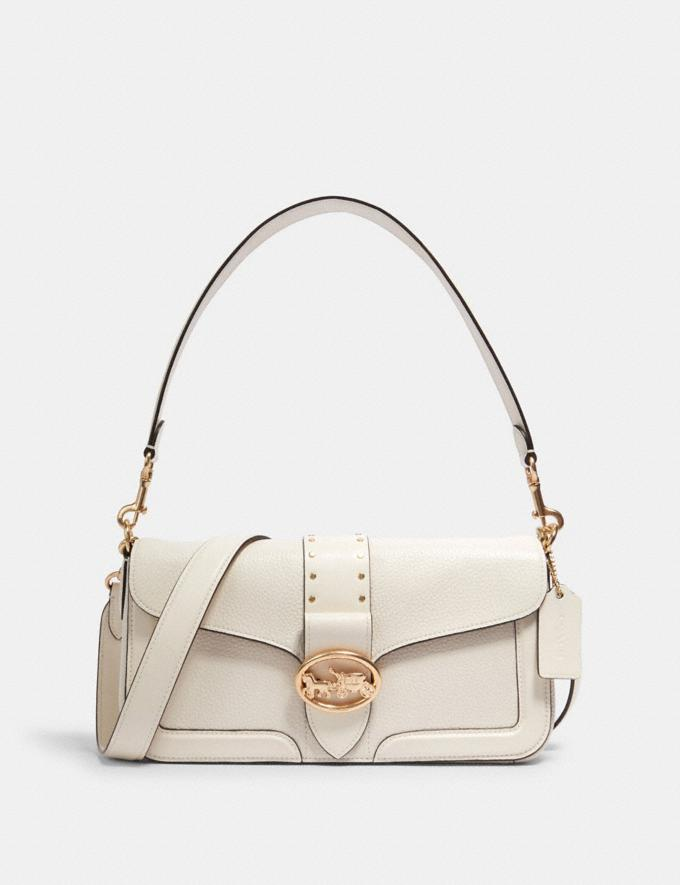 Coach Georgie Shoulder Bag With Rivets Im/Chalk Translations 9.3 Outlet sale and back in stock