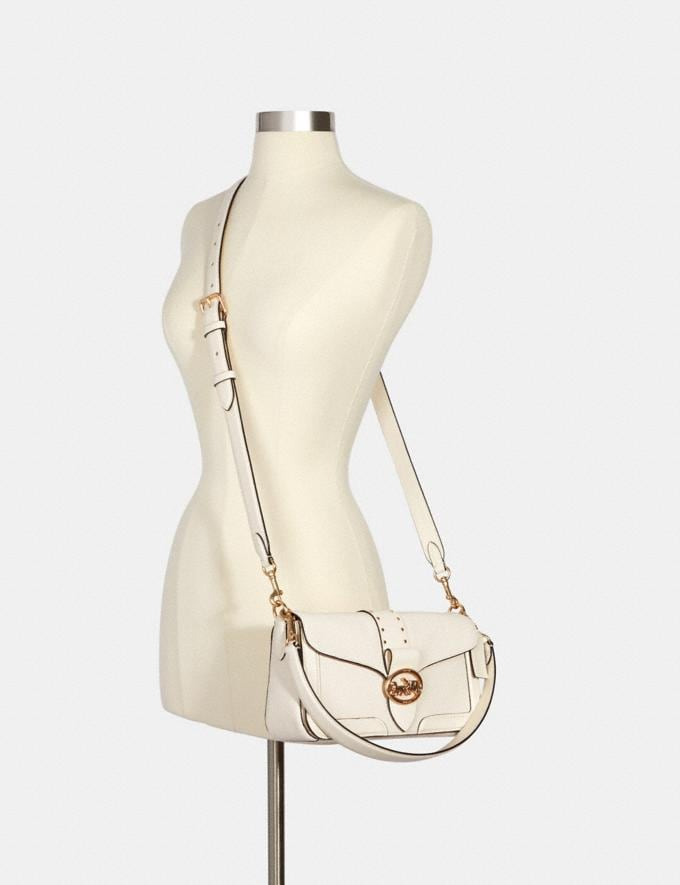 Coach Georgie Shoulder Bag With Rivets Im/Chalk Translations 9.3 Outlet sale and back in stock Alternate View 2