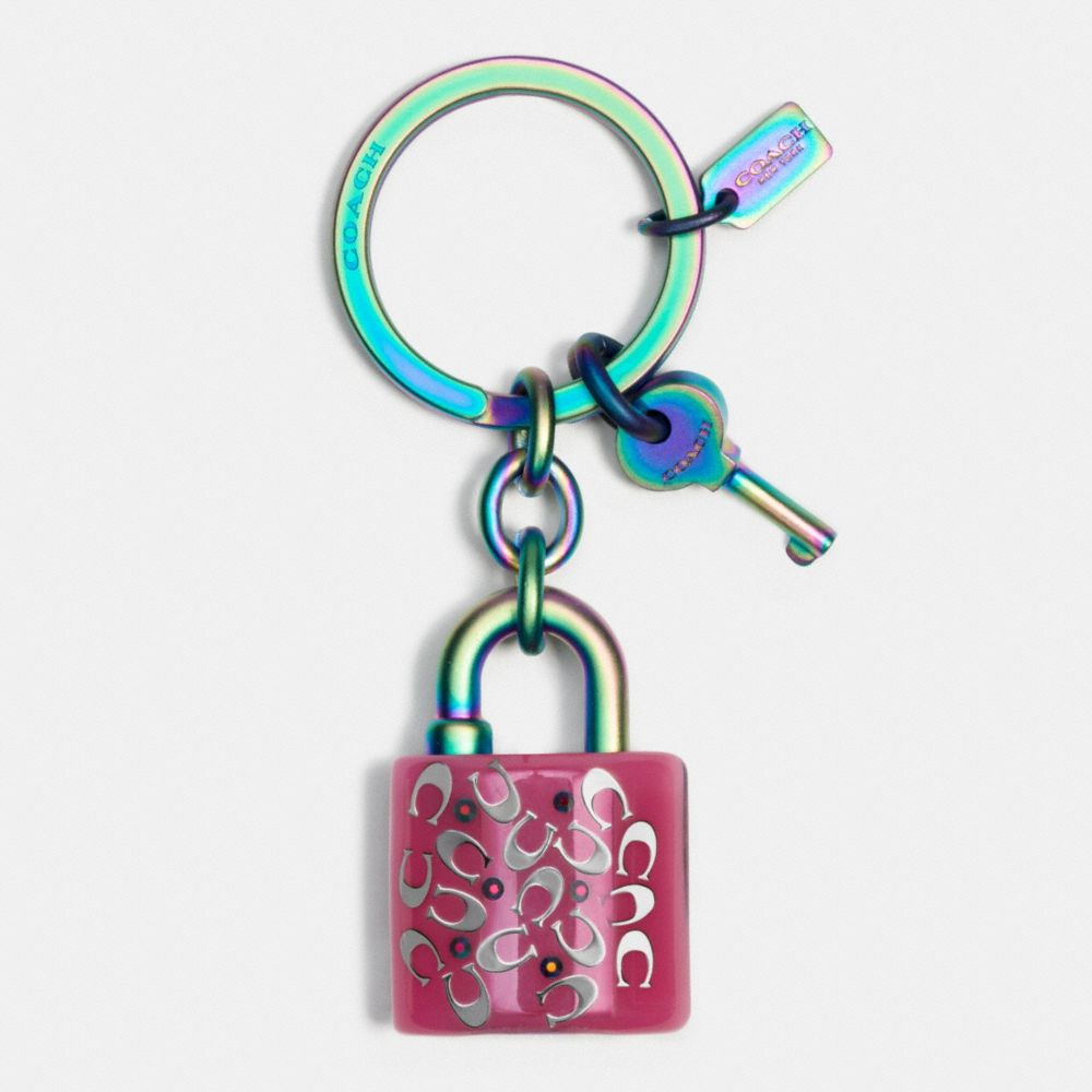 Coach Anodized Lock and Key Key Ring