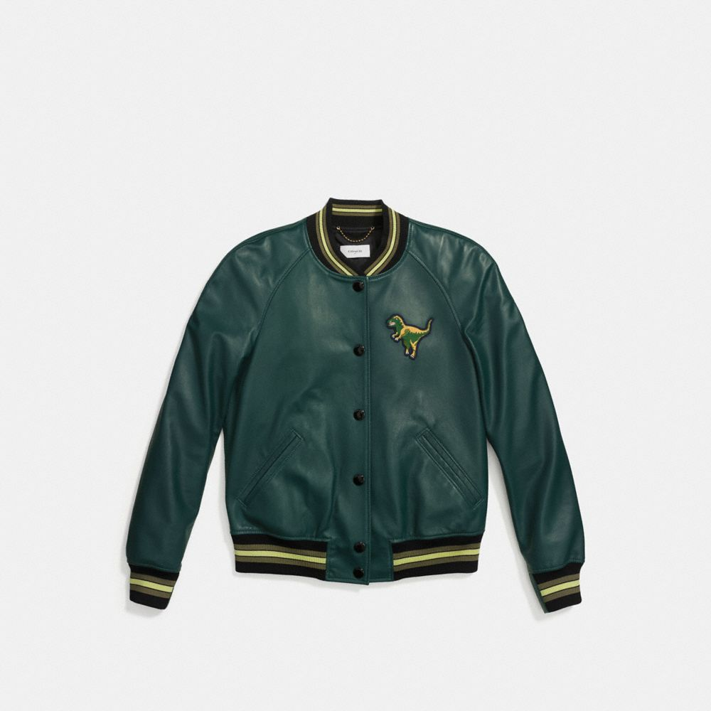 Leather Rexy Varsity Jacket - Alternate View A1