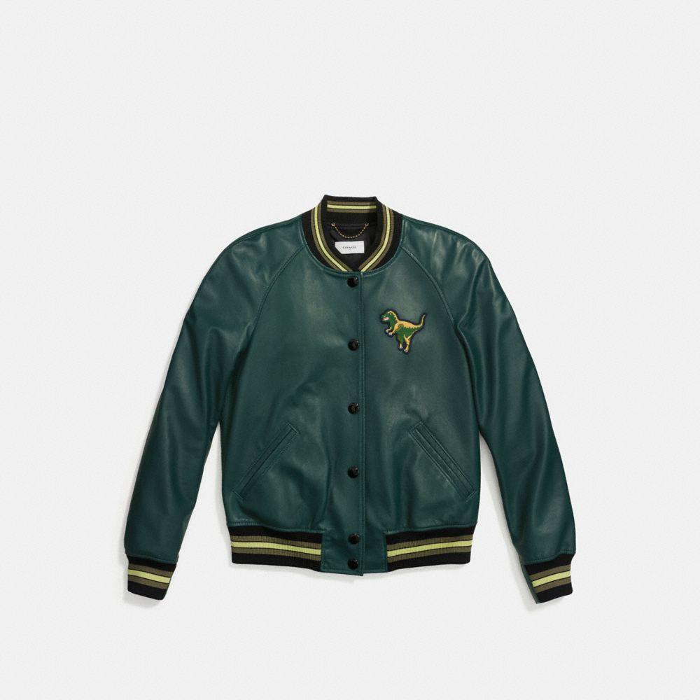 Leather Rexy Varsity Jacket - Alternate View A1