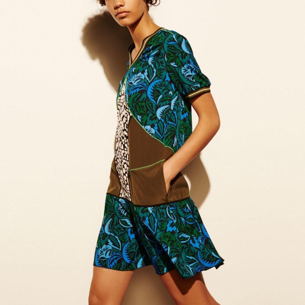DECO PALM SILK T-SHIRT DRESS
