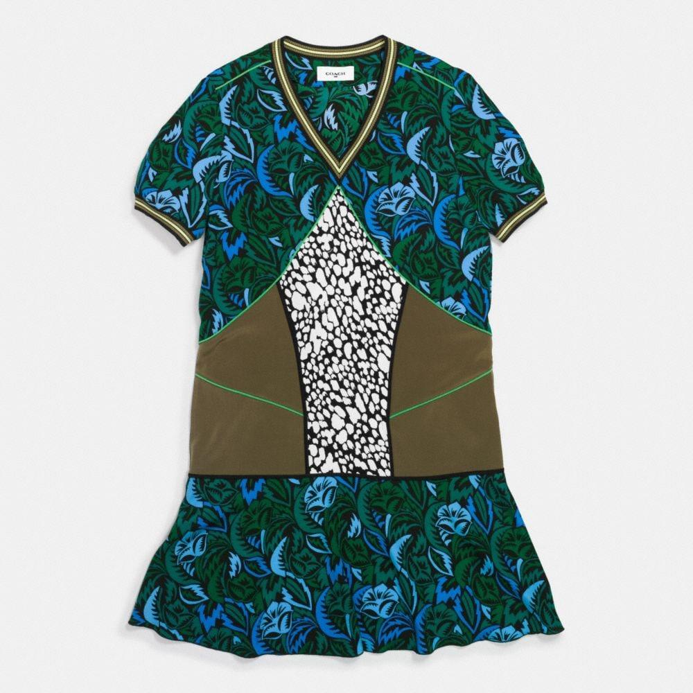 Deco Palm Silk T-Shirt Dress - Autres affichages A1