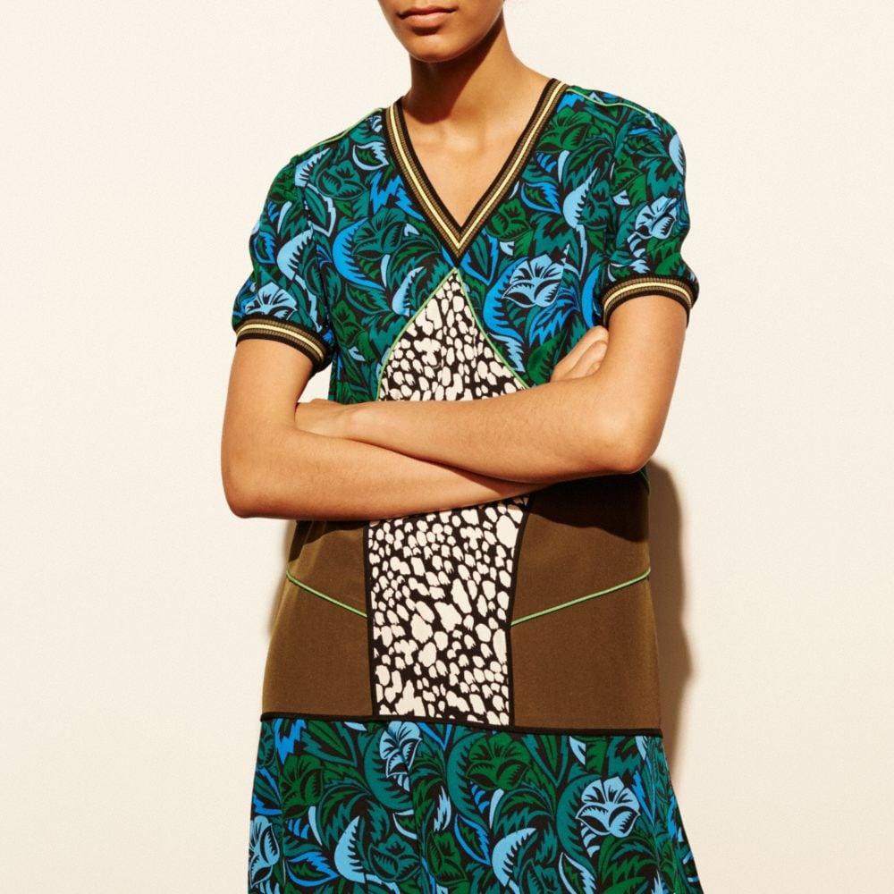 Deco Palm Silk T-Shirt Dress - Autres affichages M