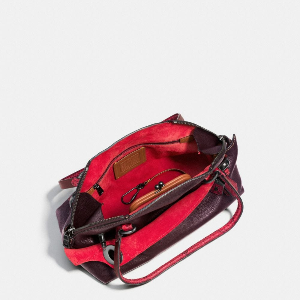 OUTLAW SATCHEL IN COLORBLOCK PYTHON - Alternate View A3