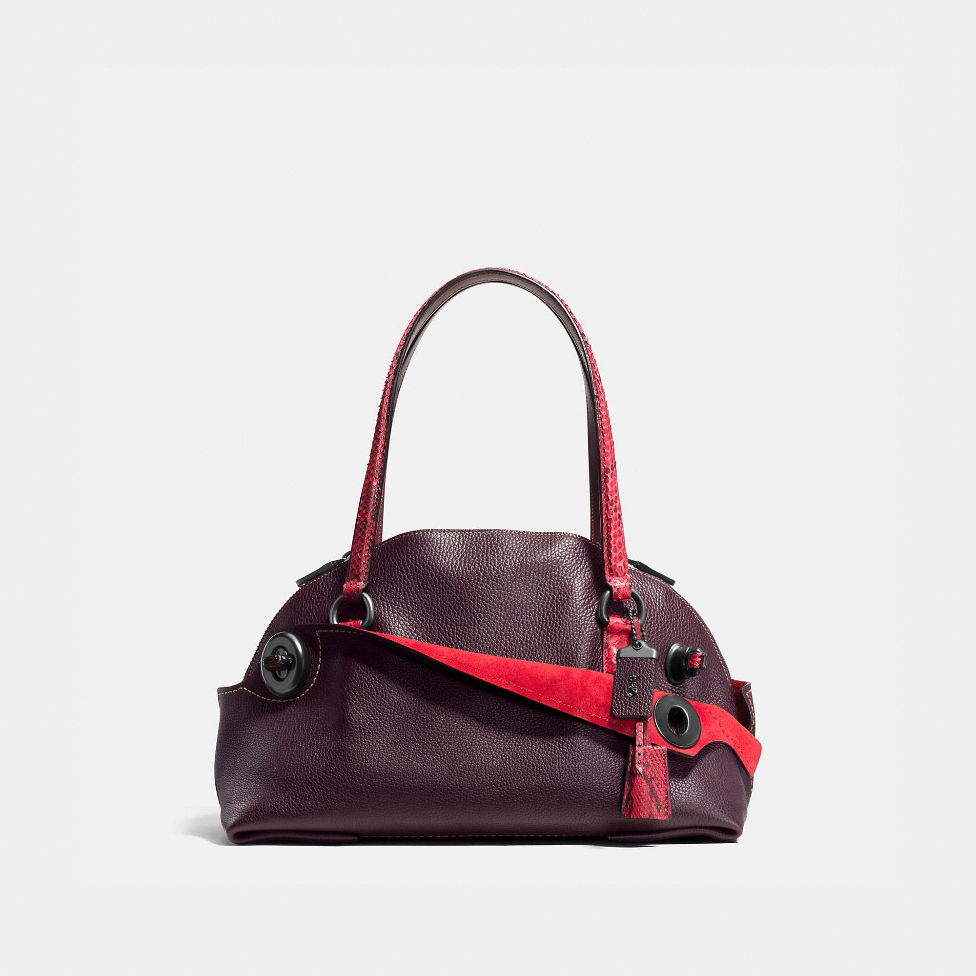 Coach Outlaw Satchel In Colorblock Python
