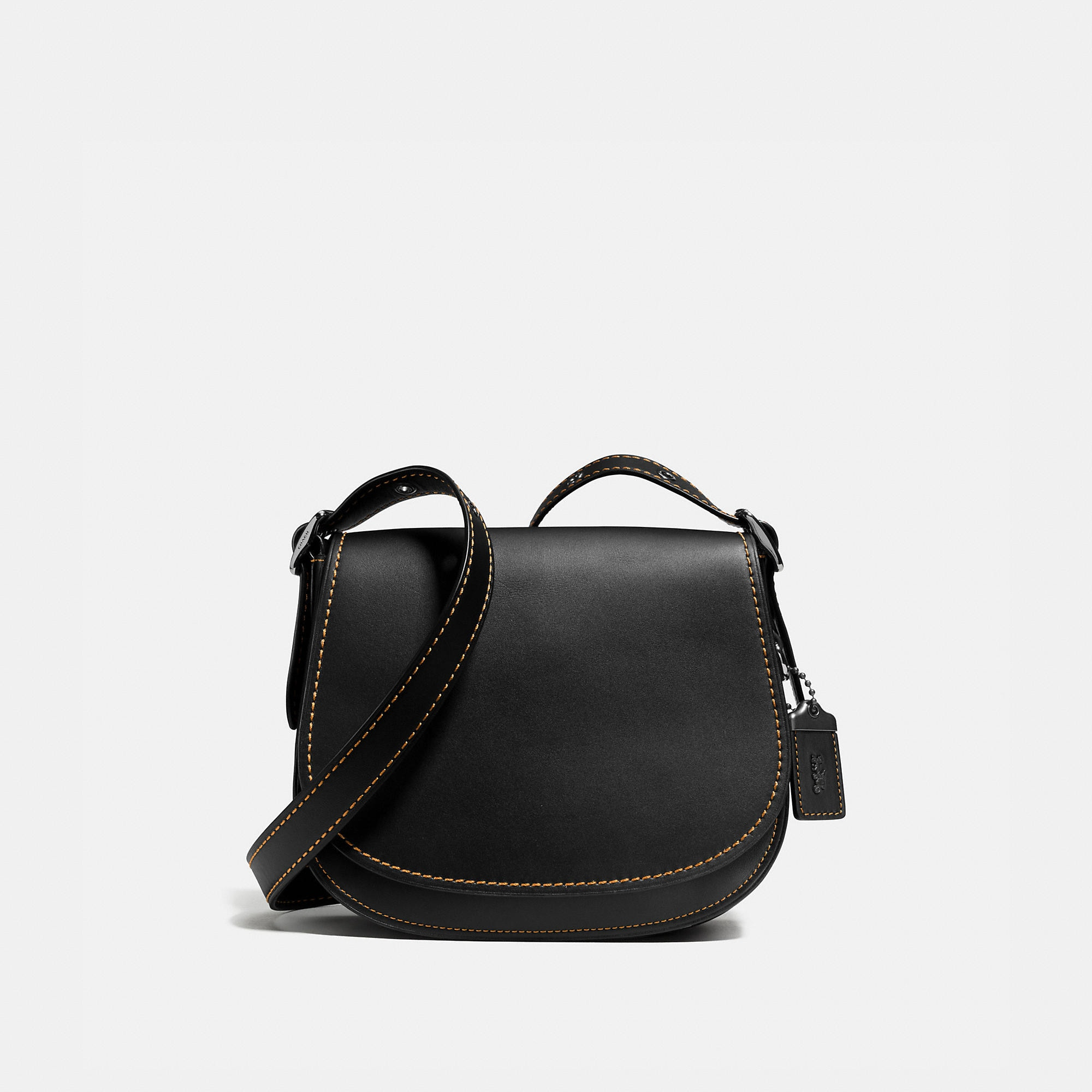 Coach Saddle Bag 23 In Glovetanned Leather