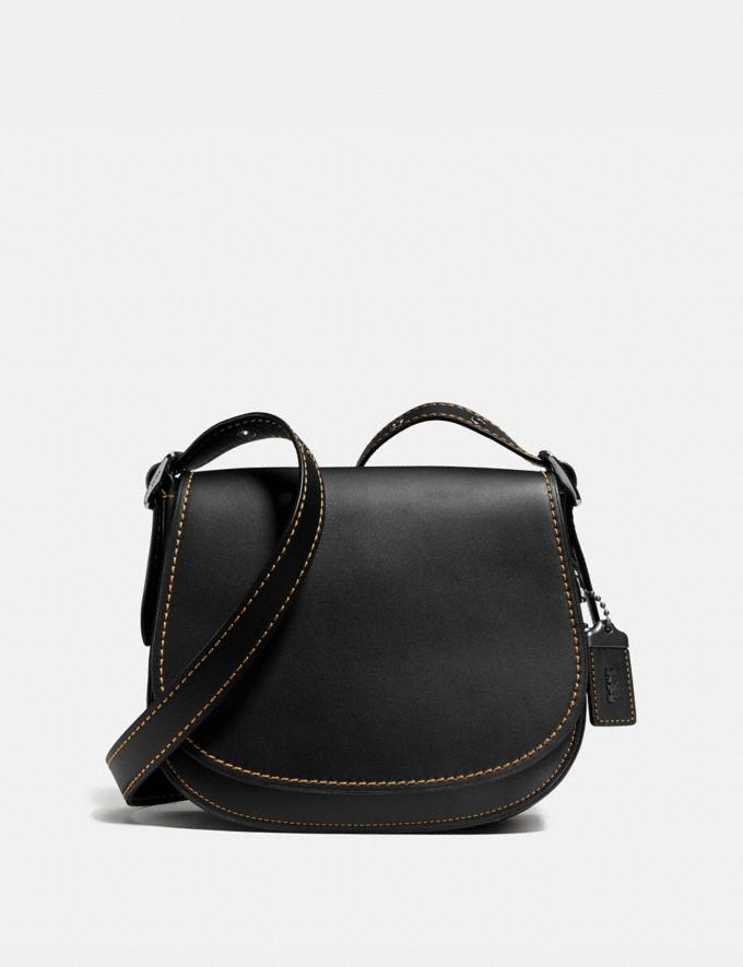 Coach Saddle 23 Black Copper/Black Personalise Personalise It Monogram For Her