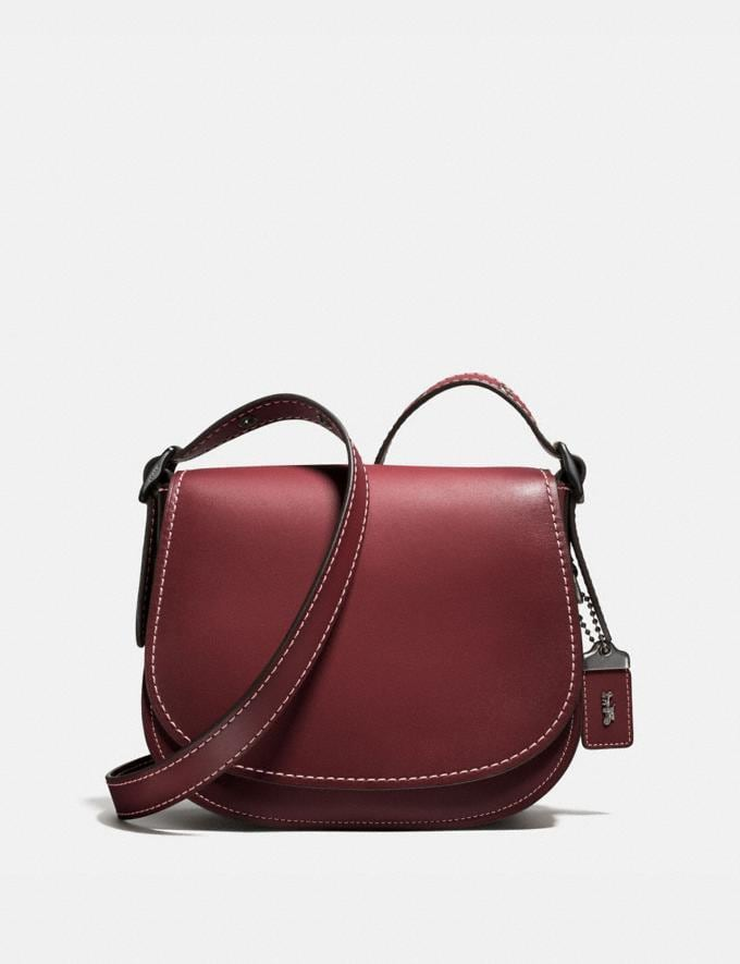 Coach Saddle 23 Bordeaux/Black Copper Personalise Personalise It Monogram For Her