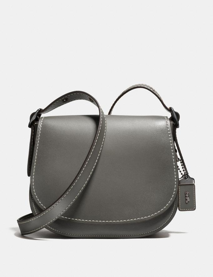 Coach Saddle 23 Heather Grey/Black Copper Personalise Personalise It Monogram For Her