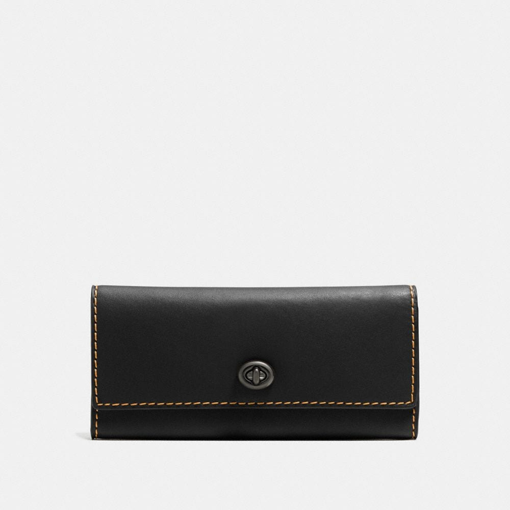 Coach Turnlock Wallet in Glovetanned Leather