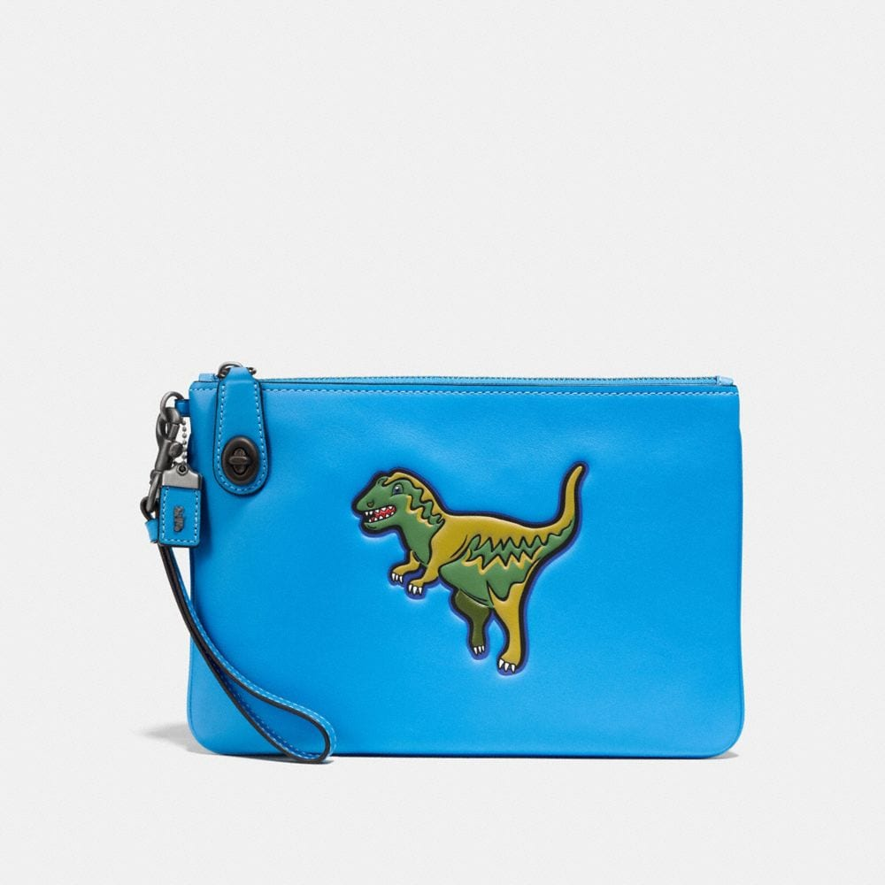 DINOSAUR TURNLOCK WRISTLET 26 IN GLOVETANNED LEATHER