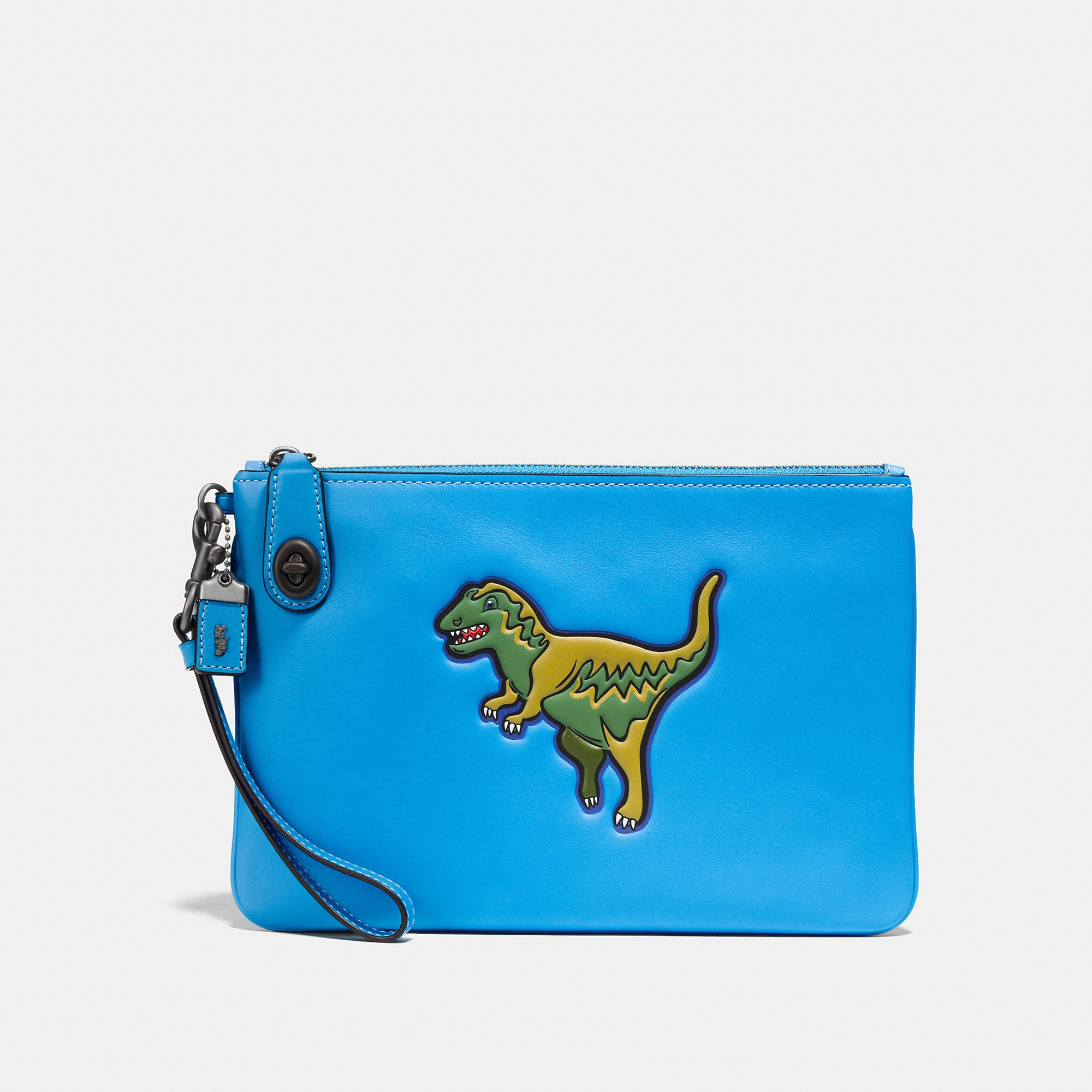 Coach Dinosaur Wristlet 26 In Glovetanned Leather