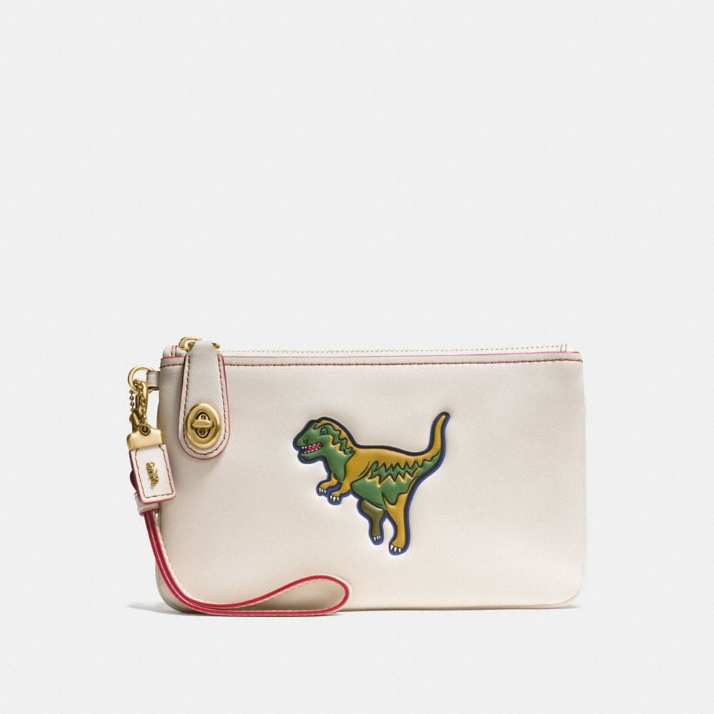 DINOSAUR TURNLOCK WRISTLET 21 IN GLOVETANNED LEATHER