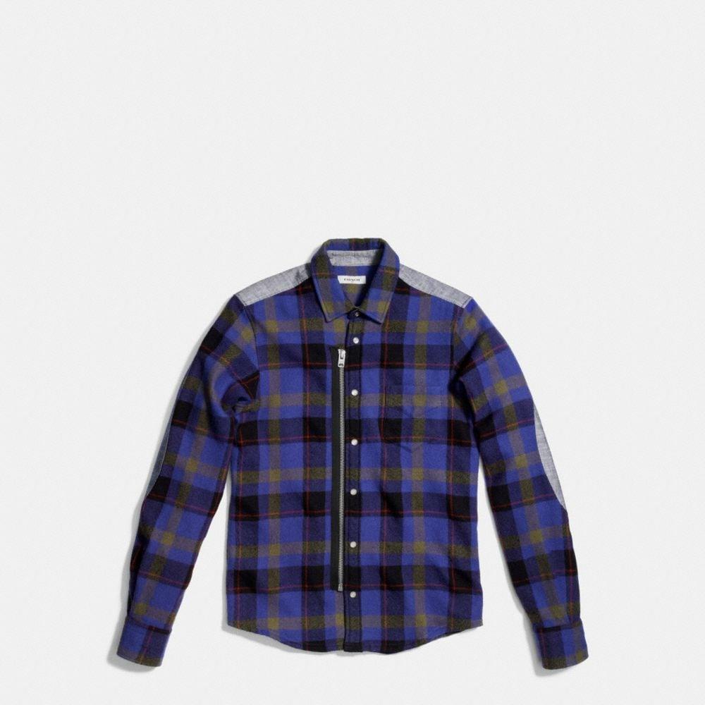 Coach Plaid Zip Shirt