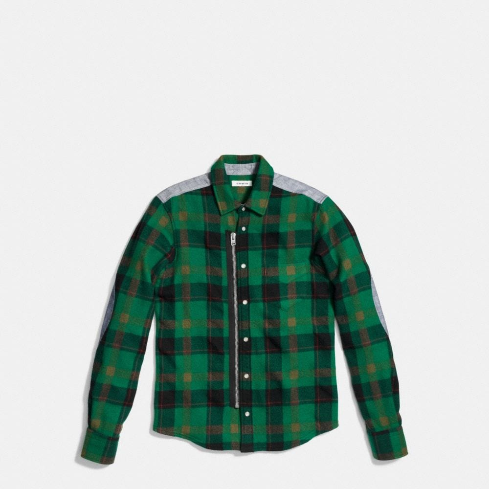 Plaid Zip Shirt