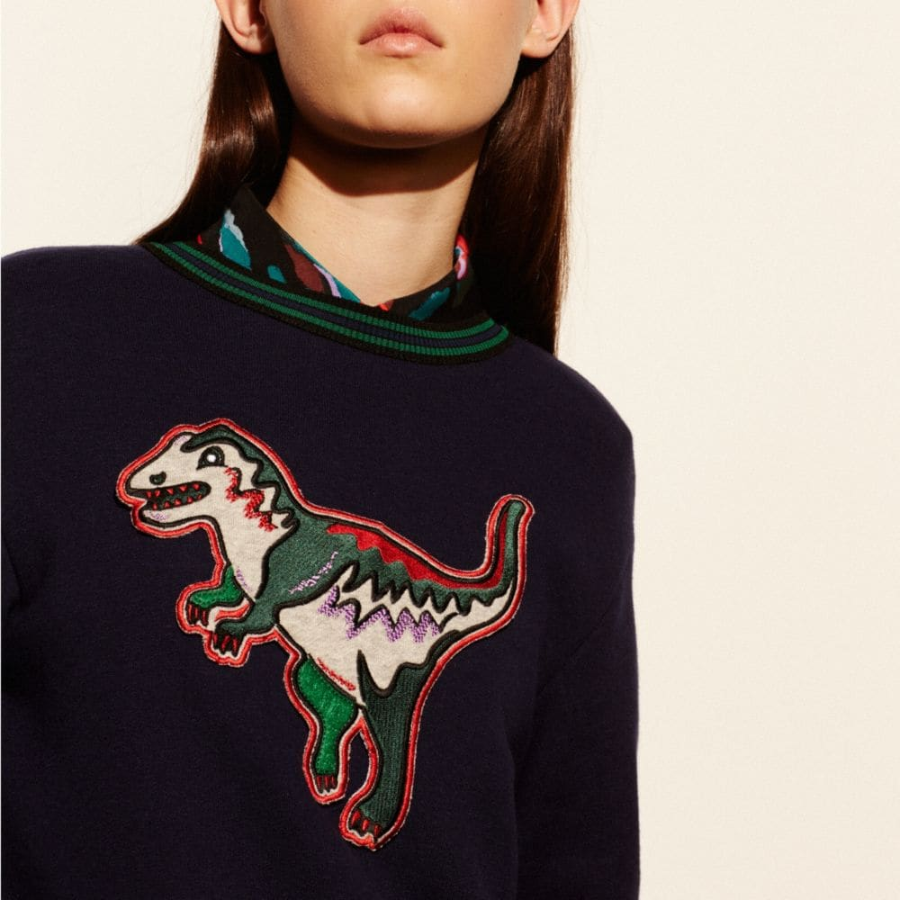 VARSITY T-REX SWEATSHIRT - Alternate View M2