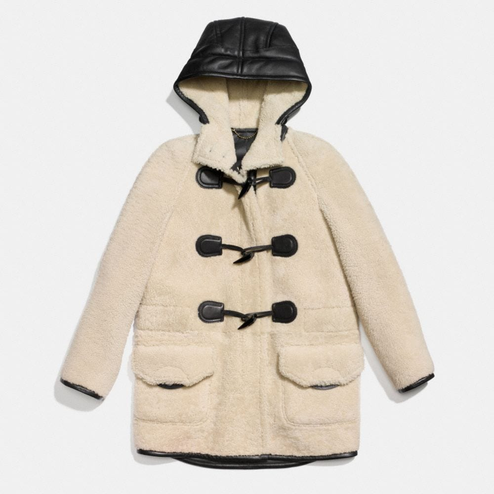 SHEARLING TOGGLE COAT - Alternate View A1