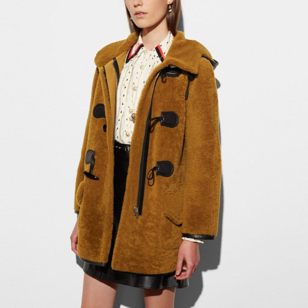 Coach Shearling Toggle Coat