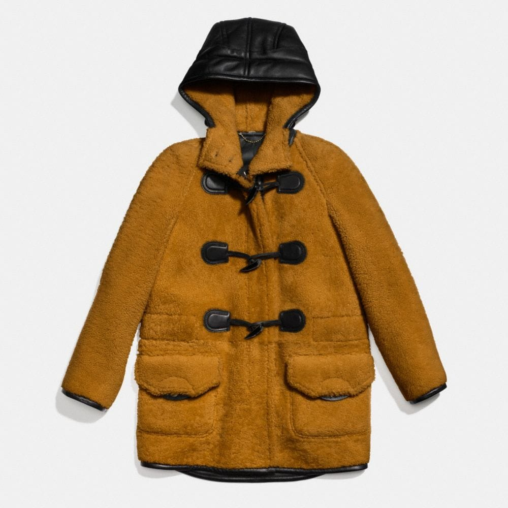 Coach Shearling Toggle Coat Alternate View 1