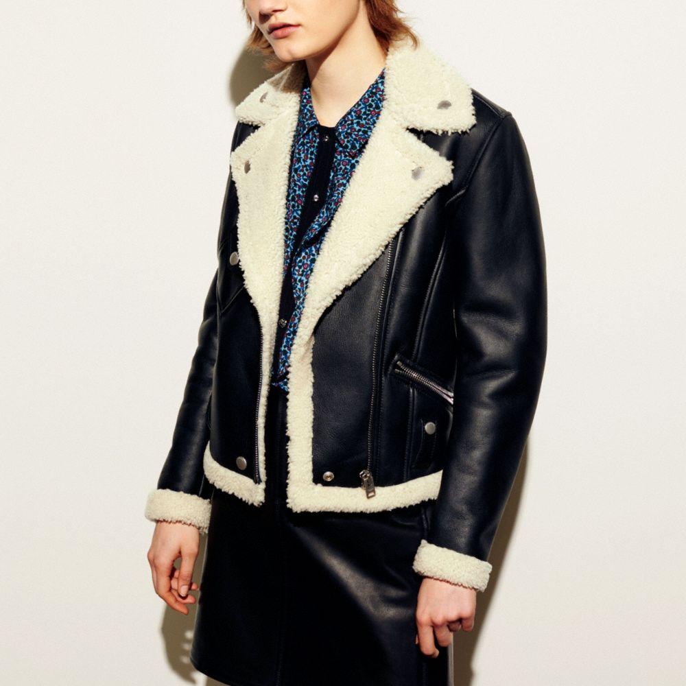 Shearling Moto Jacket