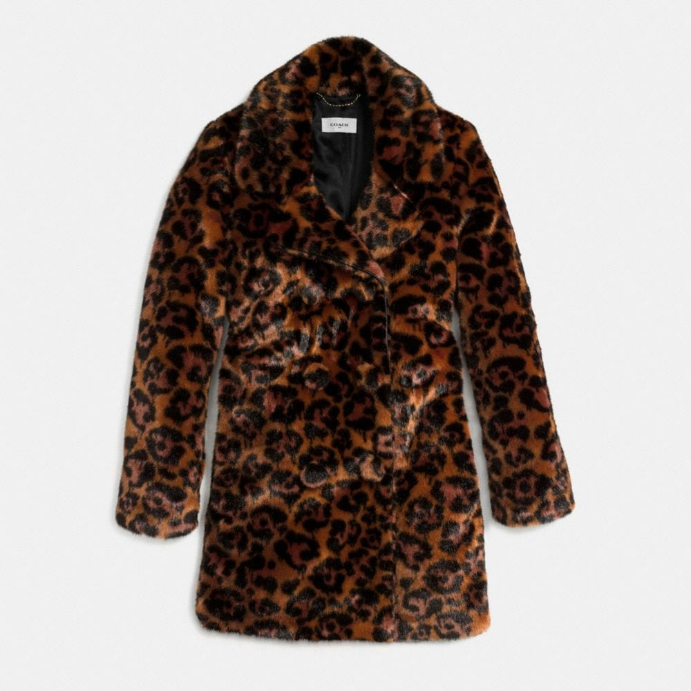 Wild Beast Faux Fur Coat - Alternate View A1