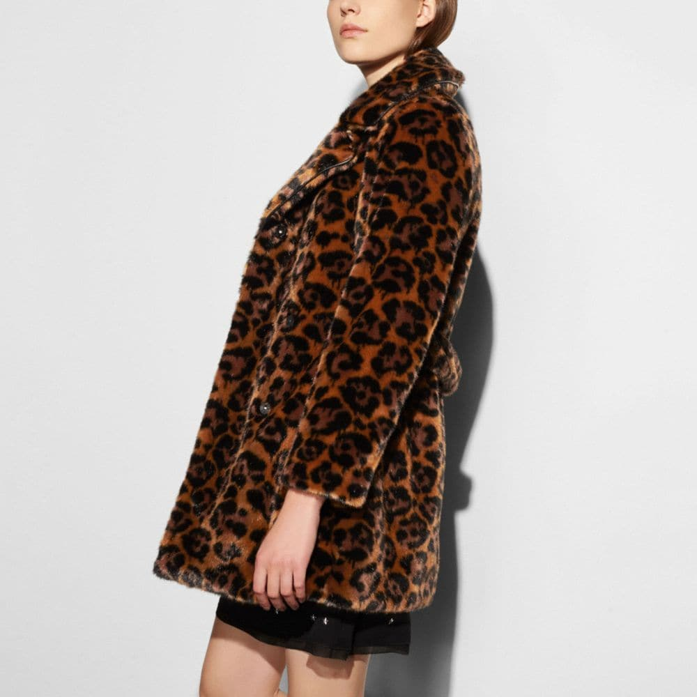 Wild Beast Faux Fur Coat - Alternate View M1