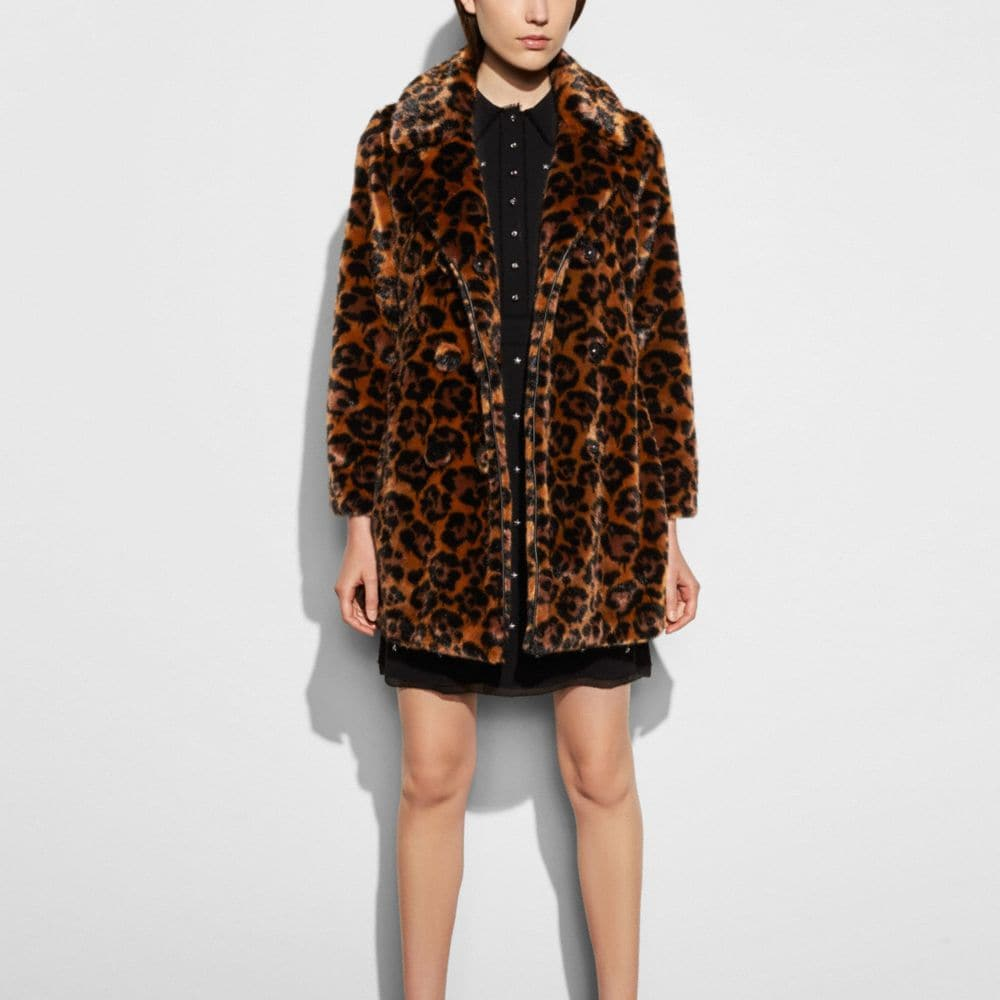 Wild Beast Faux Fur Coat - Alternate View M2
