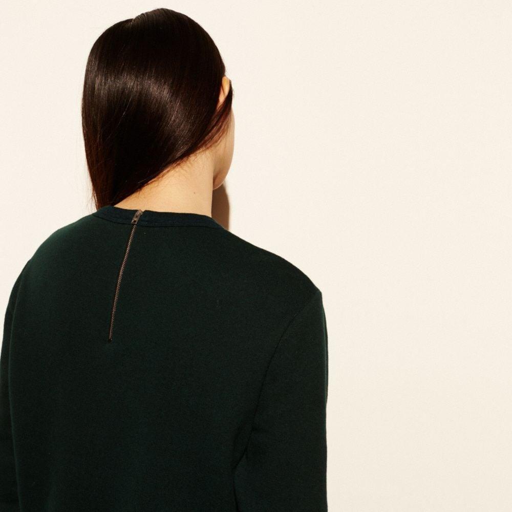 Embroidered Souvenir Sky Sweatshirt - Alternate View M3