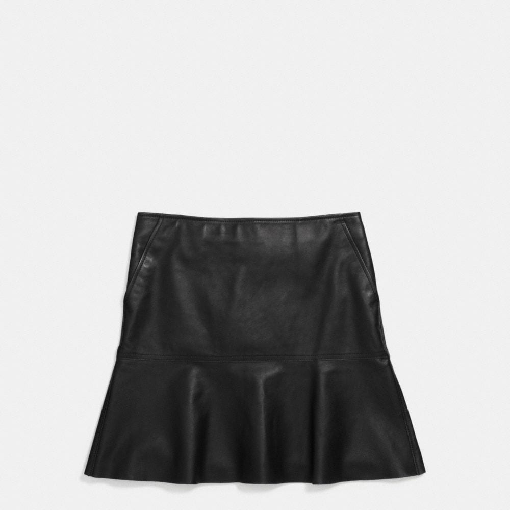 Coach Fluid Leather Skirt Alternate View 1