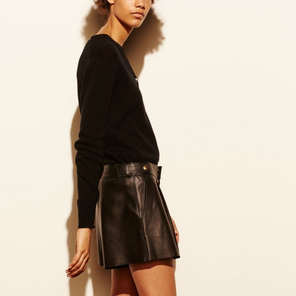 LEATHER SHORT - Alternate View M1