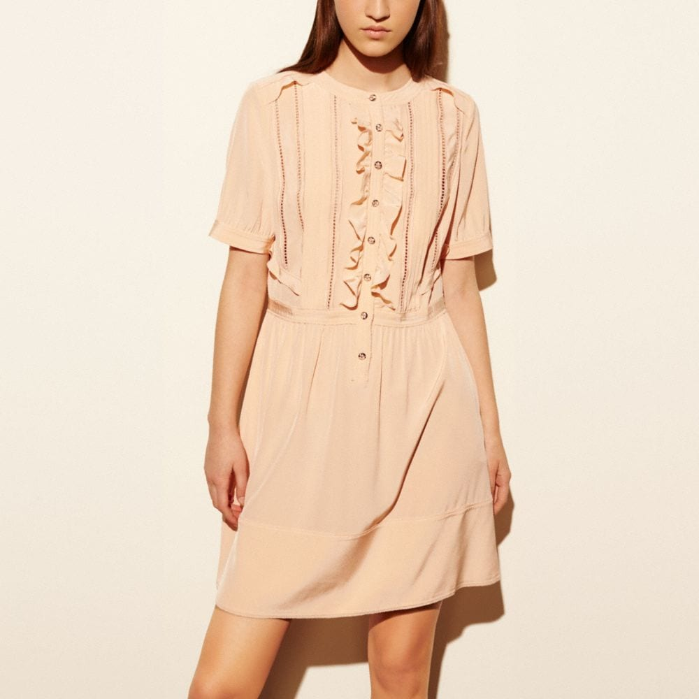 Coach Silk Ruffle Dress