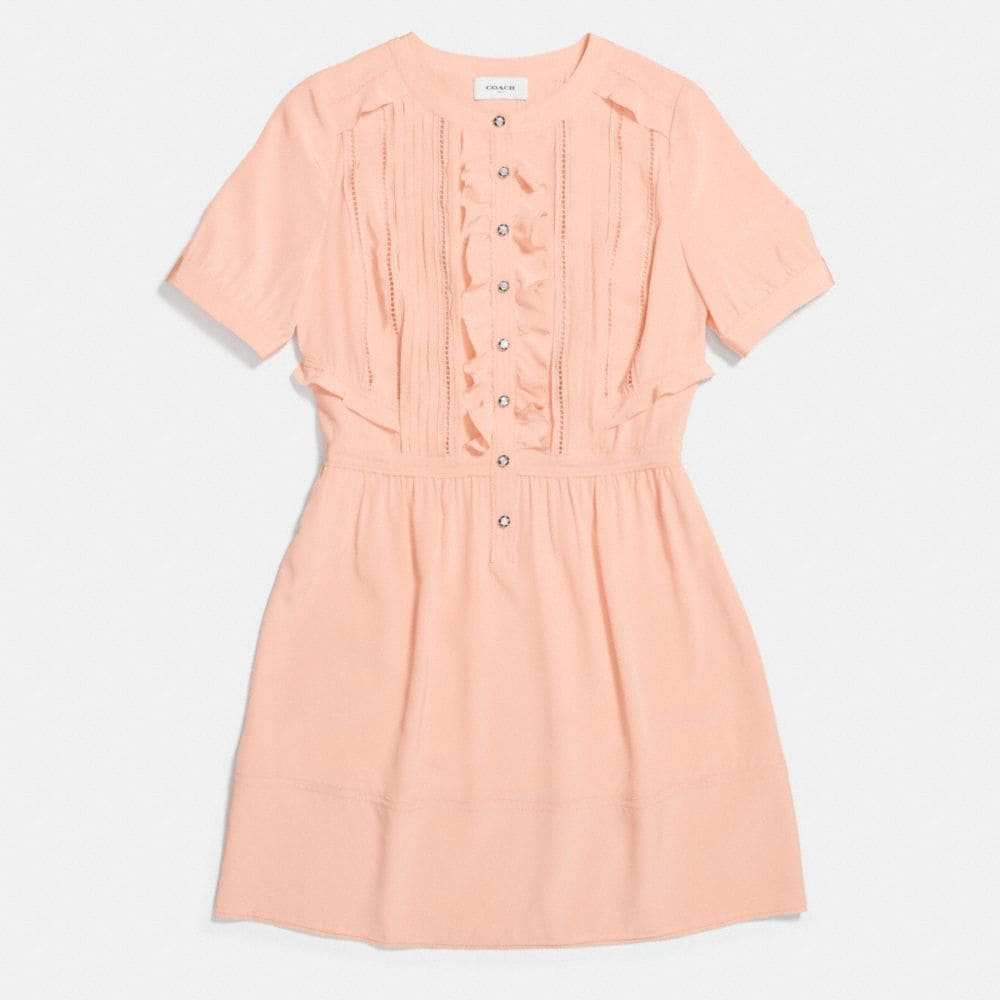 Coach Silk Ruffle Dress Alternate View 1