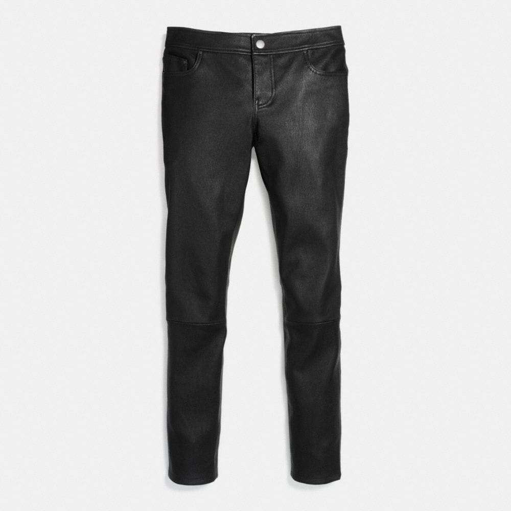 Stretch Leather Jean - Alternate View A1